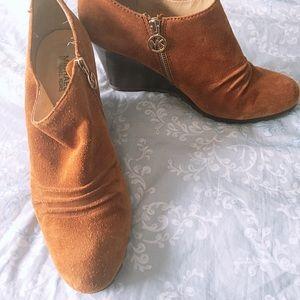 MK Michael Kors wedge heel ankle boots 10.5M